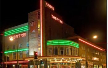 Cinema theatre at night
