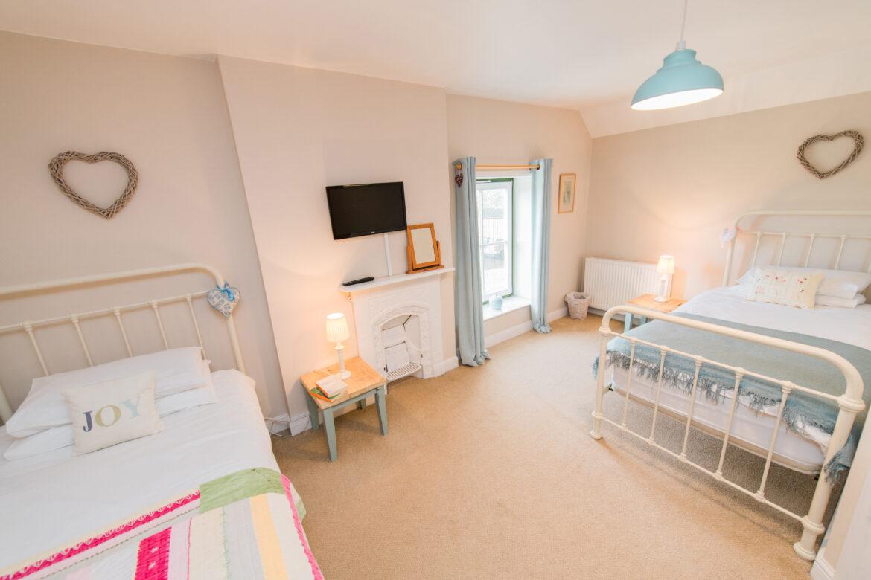 A bright bedroom