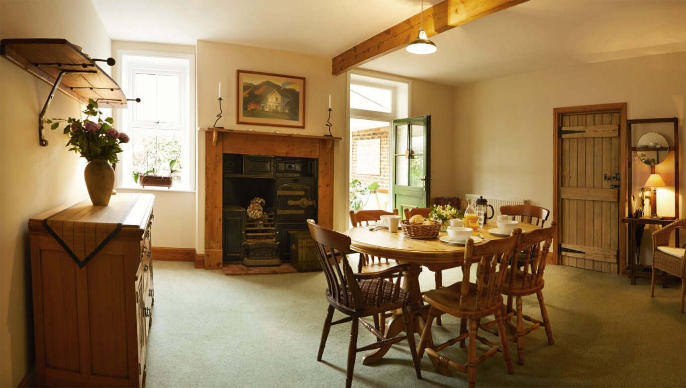 A traditional dining area