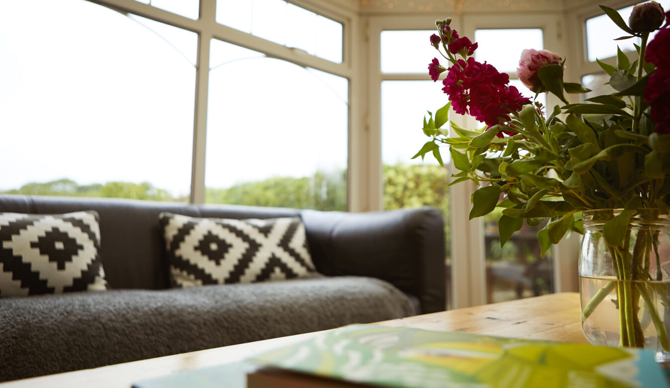 Flowers on a Coffee table