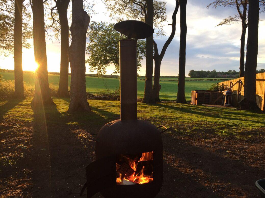 A Wood burning Fire