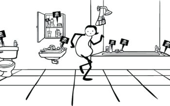 A cartoon drawing