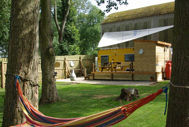 The Yellow Caravan at Dale Farm