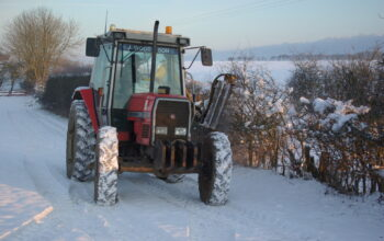 An old Tractor in the Snow