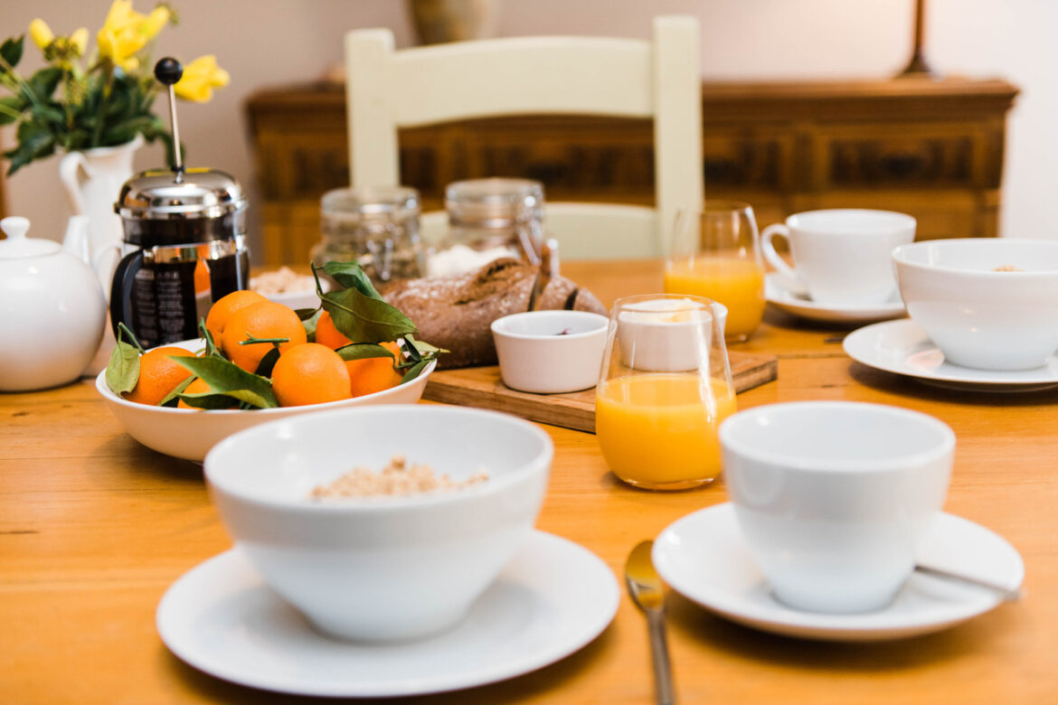 A table set for Breakfast